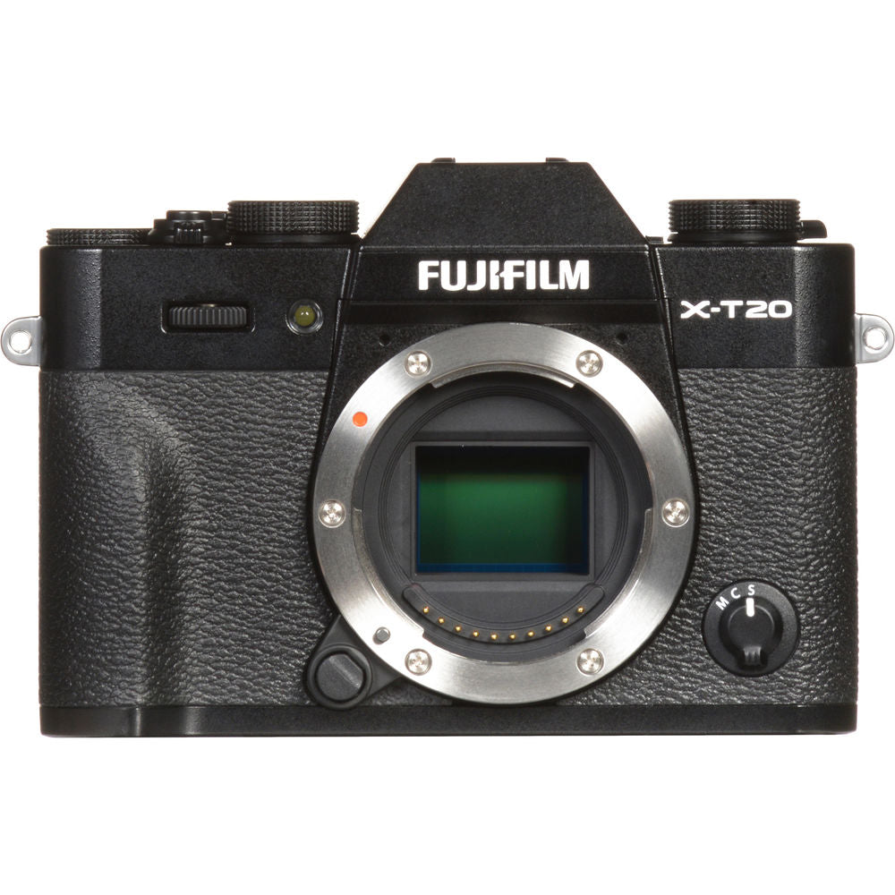 FUJIFILM X-T20 Mirrorless Digital Camera with 16-50mm and 50-230mm Lenses and Grip Kit (Black)