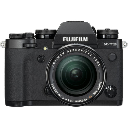 FUJIFILM X-T3 Mirrorless Digital Camera with 18-55mm Lens (Black)