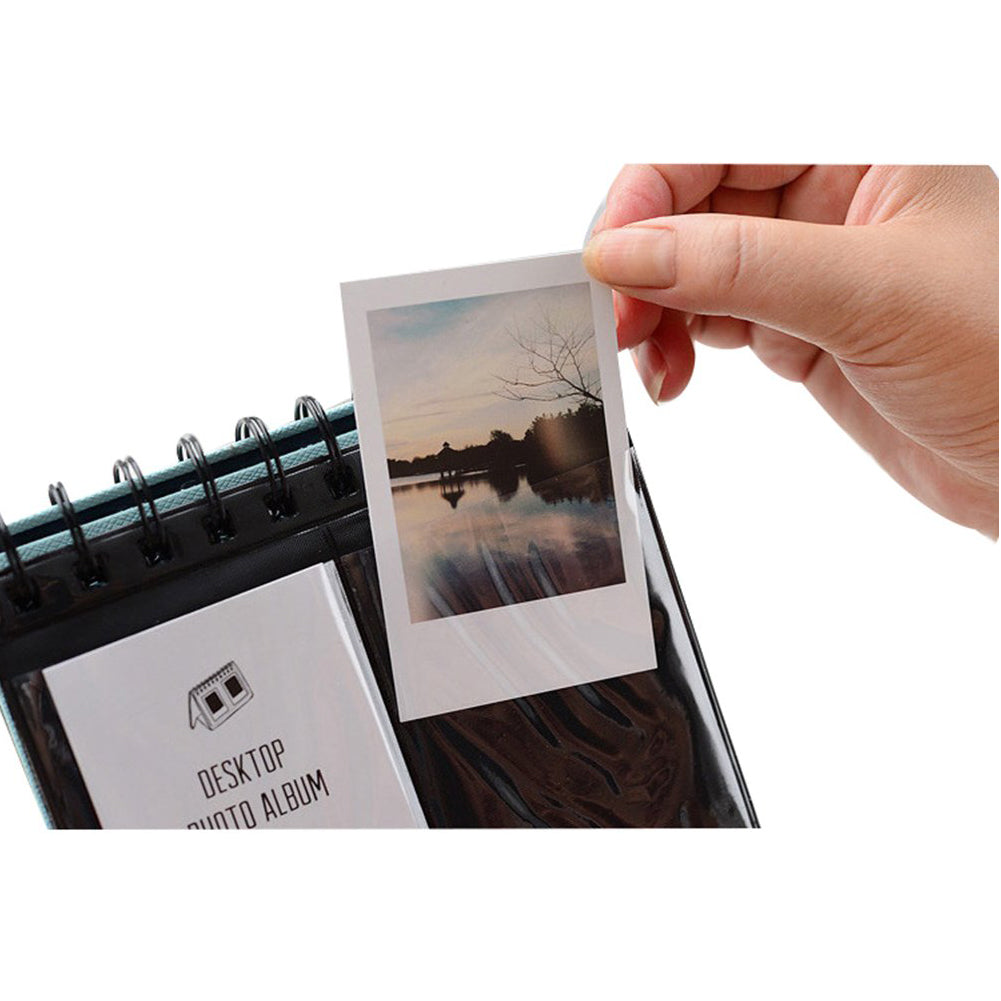 """CAIUL 68 Pockets Desk Calendar Style Photo Album for Fujifilm Instax Mini 7s 8 8+ 9 25 26 50s 70 90 Films (yellow) """