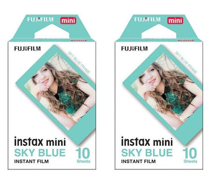Fujifilm Instax Mini Instant Film 20 Sheets Value set Rainbow Sky Blue