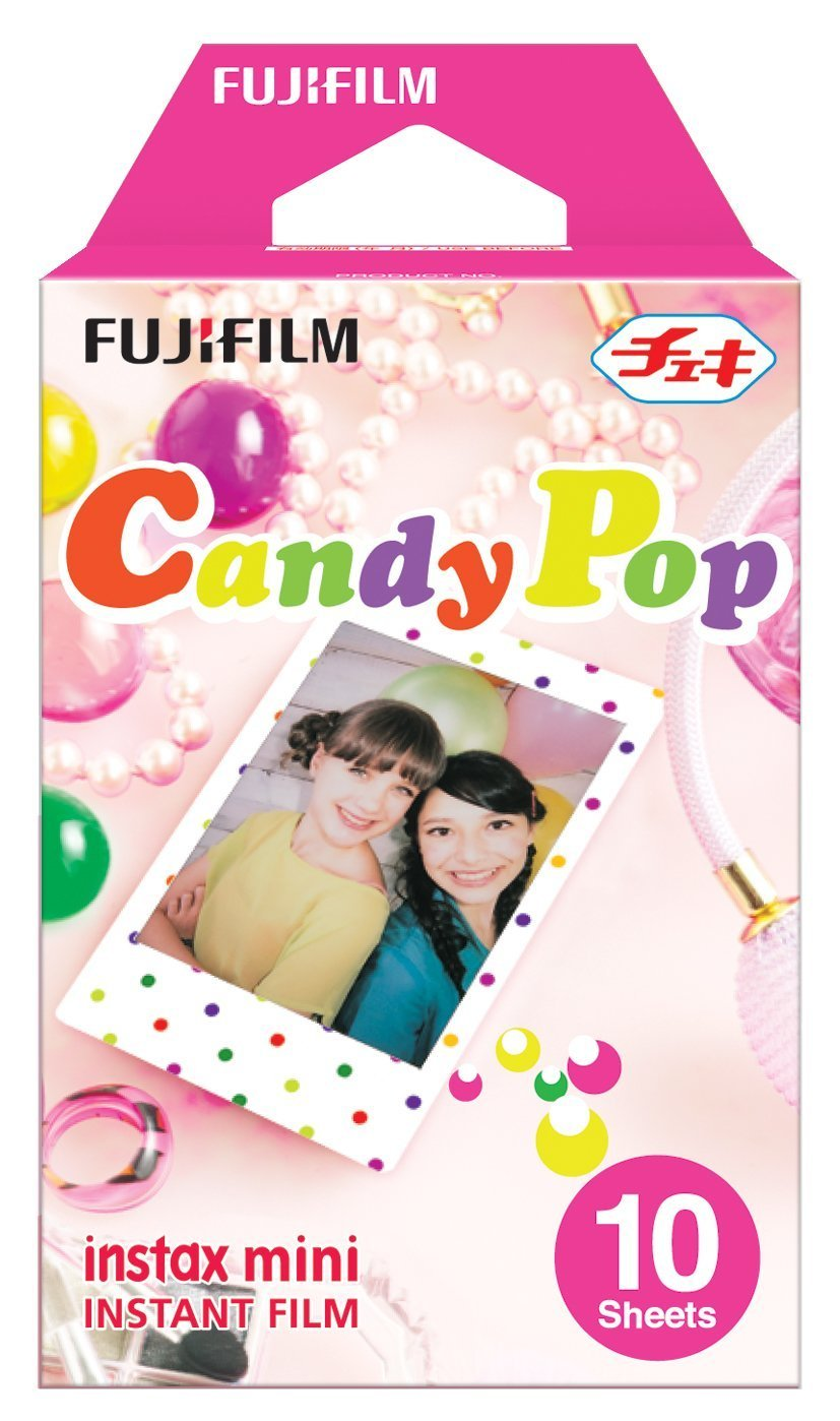 Fujifilm Instax Mini Film 3 Pack Bundle-Twin Pack X 2, Candy PopX1 50 Sheets