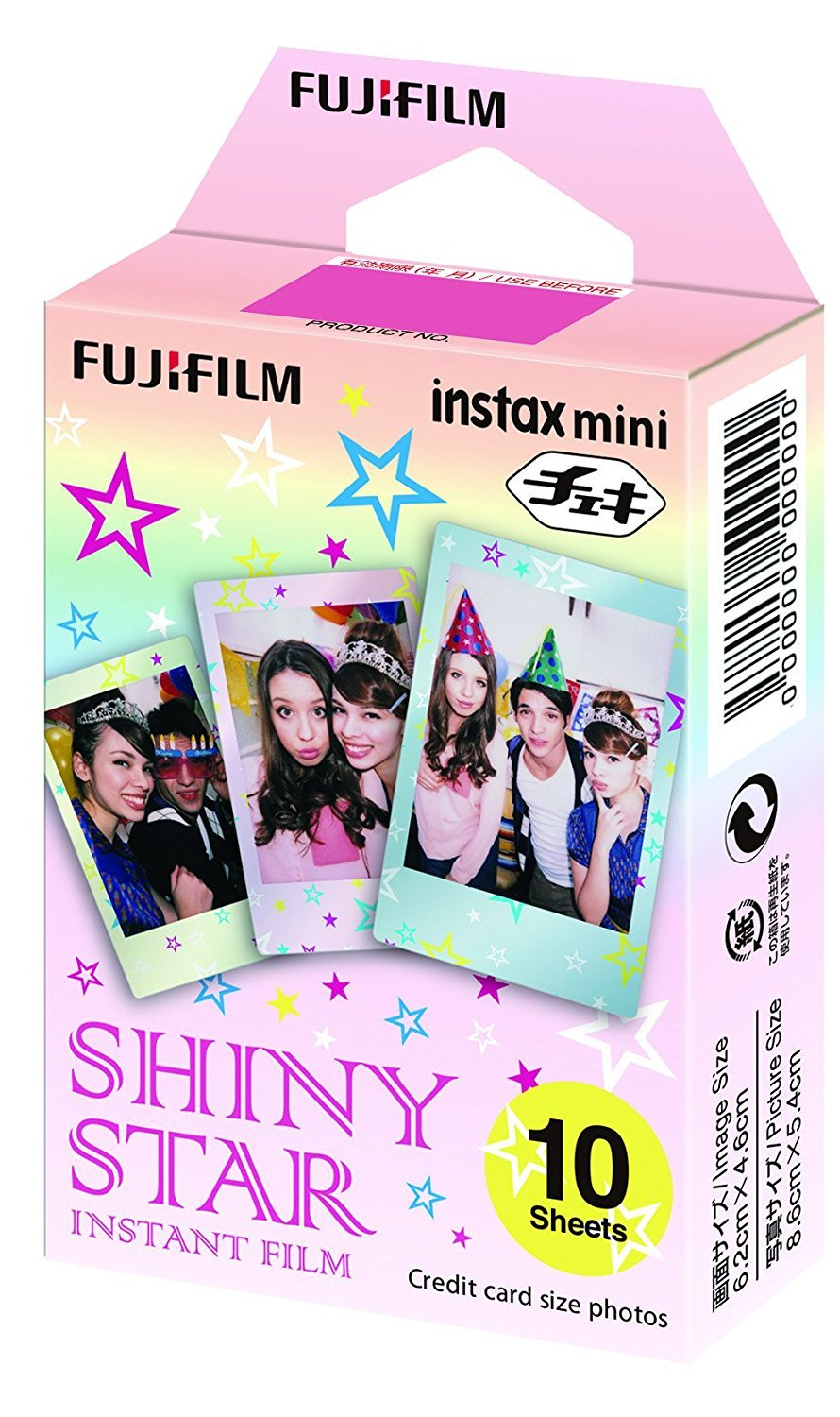 Fujifilm Instax Mini Instant Film 30 Count Value Kit For Film for Fuji 7s, 8, 9, 25, 50s,70, 90 Instant Camera, Share SP1, SP2 Printer (3 Pack, Shiny Star)