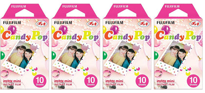Fujifilm Instax Mini Instant Film 10x4 Candy Pop Film For Fuji 7s, 8, 9, 25, 50s, 90, 300, Instant Camera, Share SP1 Printer