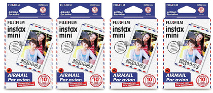 Fujifilm Instax Mini Instant Film 40 Count Value Kit For Fuji 7s, 8, 9, 25, 50s,70, 90 Instant Camera, Share SP1, SP2 Printer (4 Pack, Airmail)