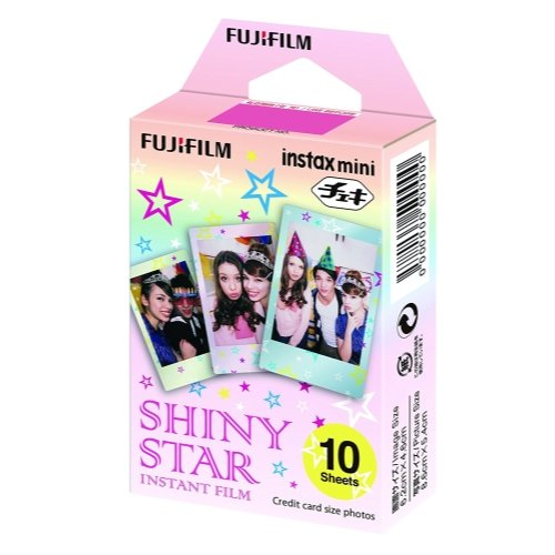 Fujifilm Instax Mini Shiny Star Film For Fuji 7s, 8, 9, 25, 50s,70, 90 Instant Camera, Share SP1, SP2 Printer 2PACK (20 Sheets)