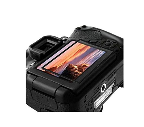 GGS LARMOR Screen Protector for Canon 6D, from Tempered Glass Foil, SelfAdhesive, 4th Generation  with Top Screen Protector