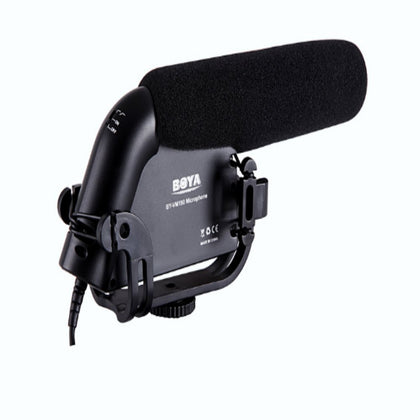 BOYA BY-VM190 Video Condenser Shotgun HD Prosumer Interview Microphone On-Camera Recording Mic for Canon Nikon Sony Pentax DSLR Cameras (Fur & Foam Windscreen Included)
