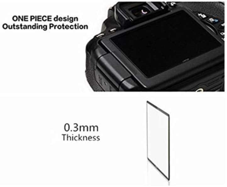 LARMOR 0.3mm Ultra Thin SelfAdhesive Optical Glass LCD Screen Protector for Canon 1200D Camera