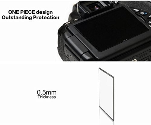 LARMOR GGS SelfAdhesive Optical Glass LCD Screen Protector for Nikon D610