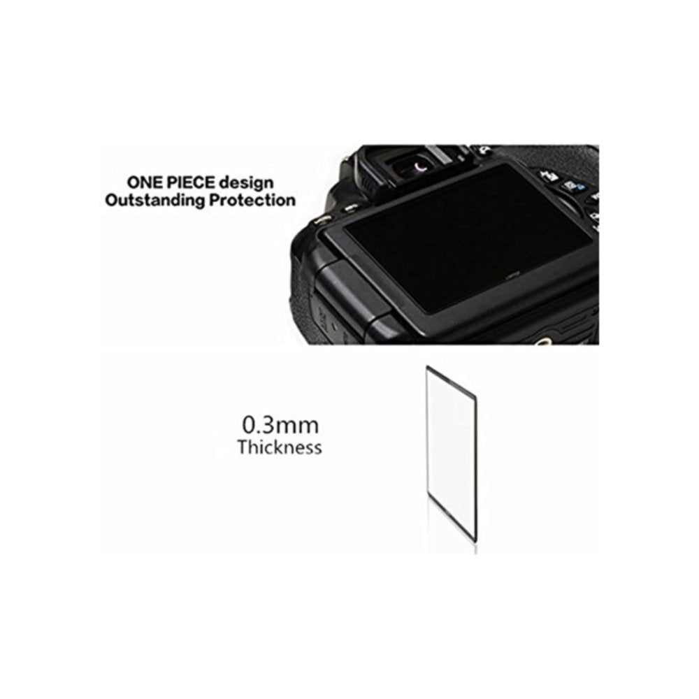 LARMOR by GGS SelfAdhesive Optical Glass LCD Screen Protector for NIKON D7000
