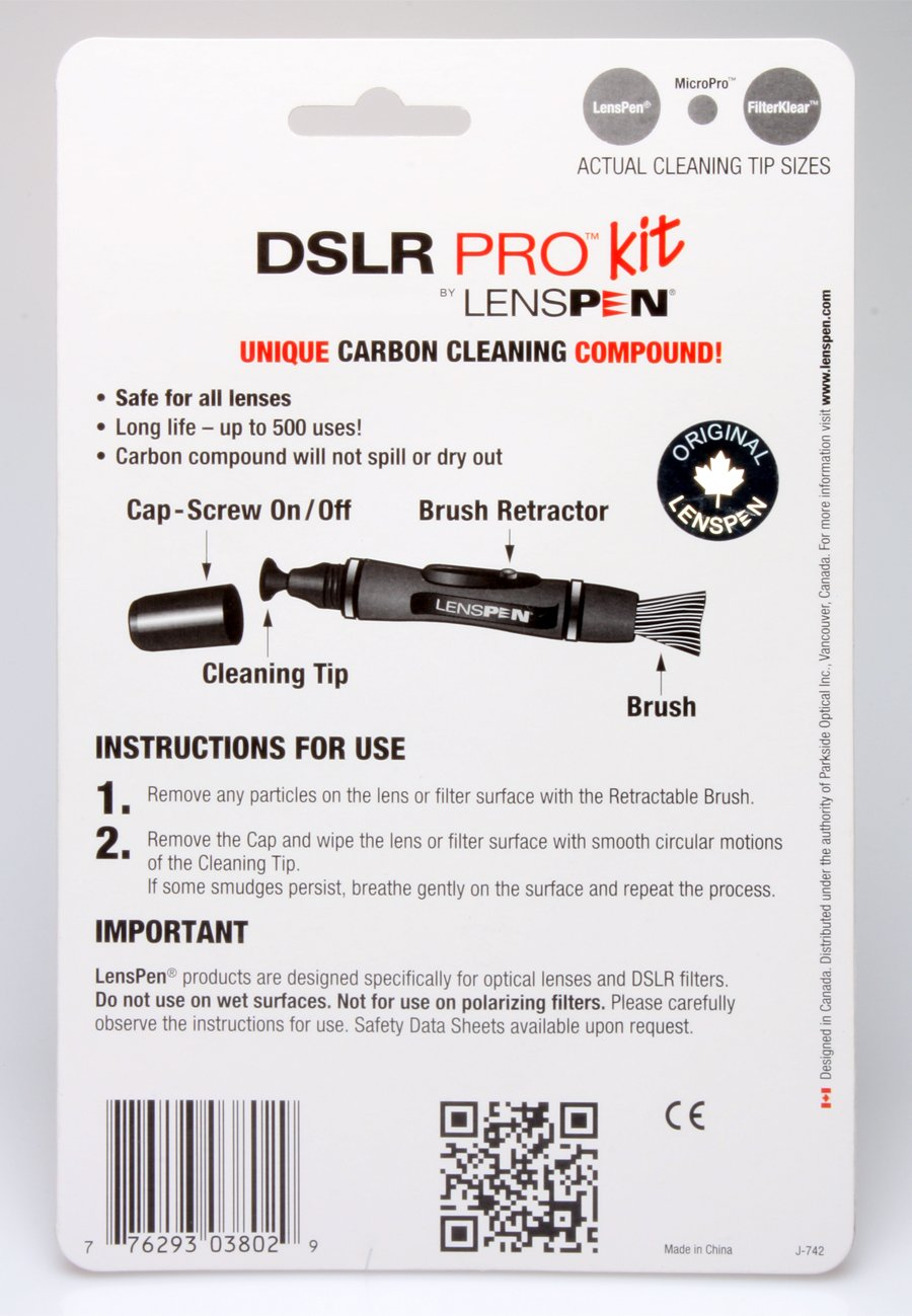 Lenspen New DSLR Pro with Cloth NDSLRK1 Cleaning Kit (Black)