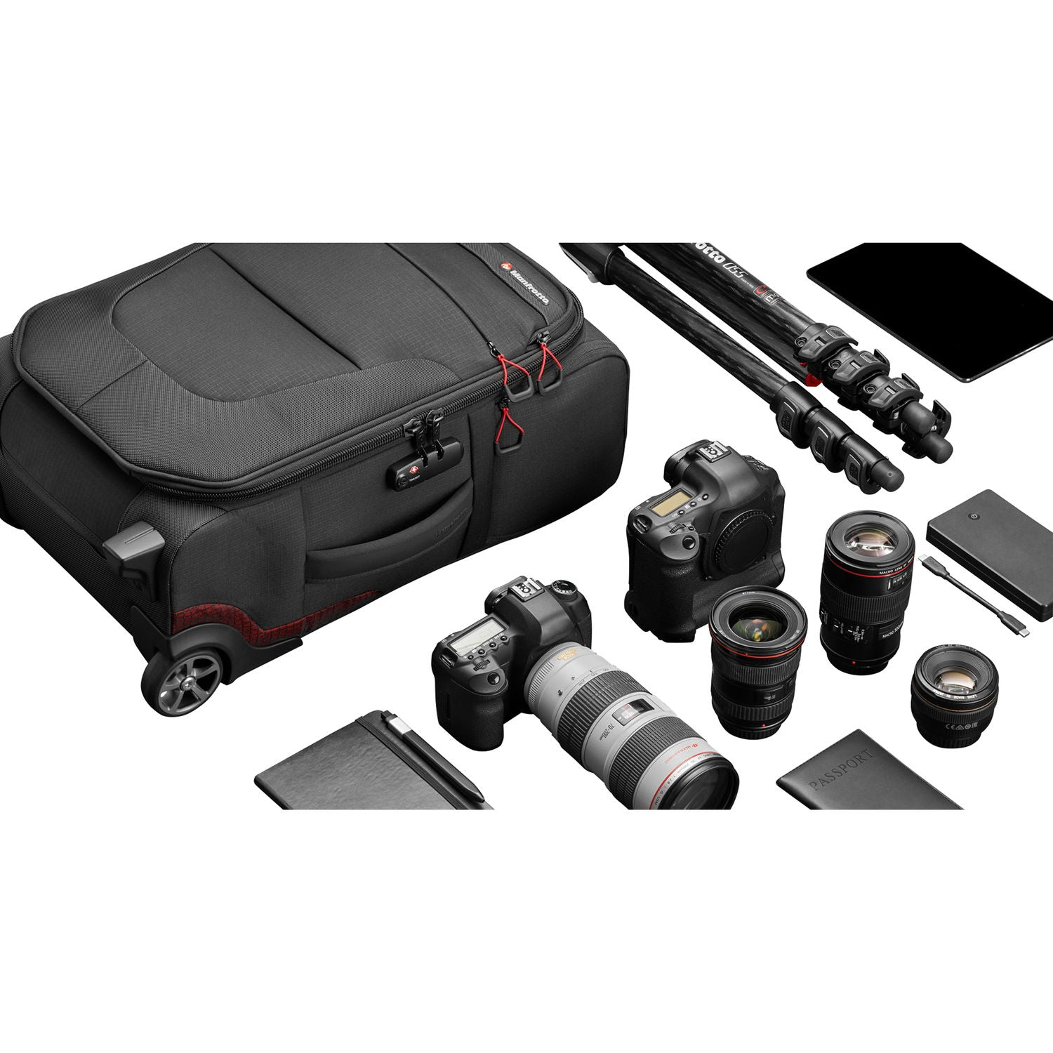 Manfrotto Pro Light Reloader Air-55 Carry-On Camera Roller Bag (Black)