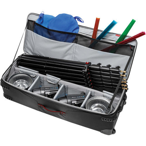 Manfrotto Pro-Light Rolling Lighting Gear Organizer V1 (Extra Large, Black)