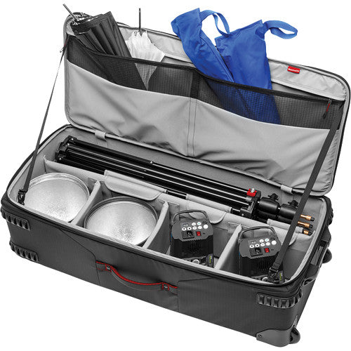 Manfrotto Pro-Light Rolling Lighting Gear Organizer V1 (Large, Black)