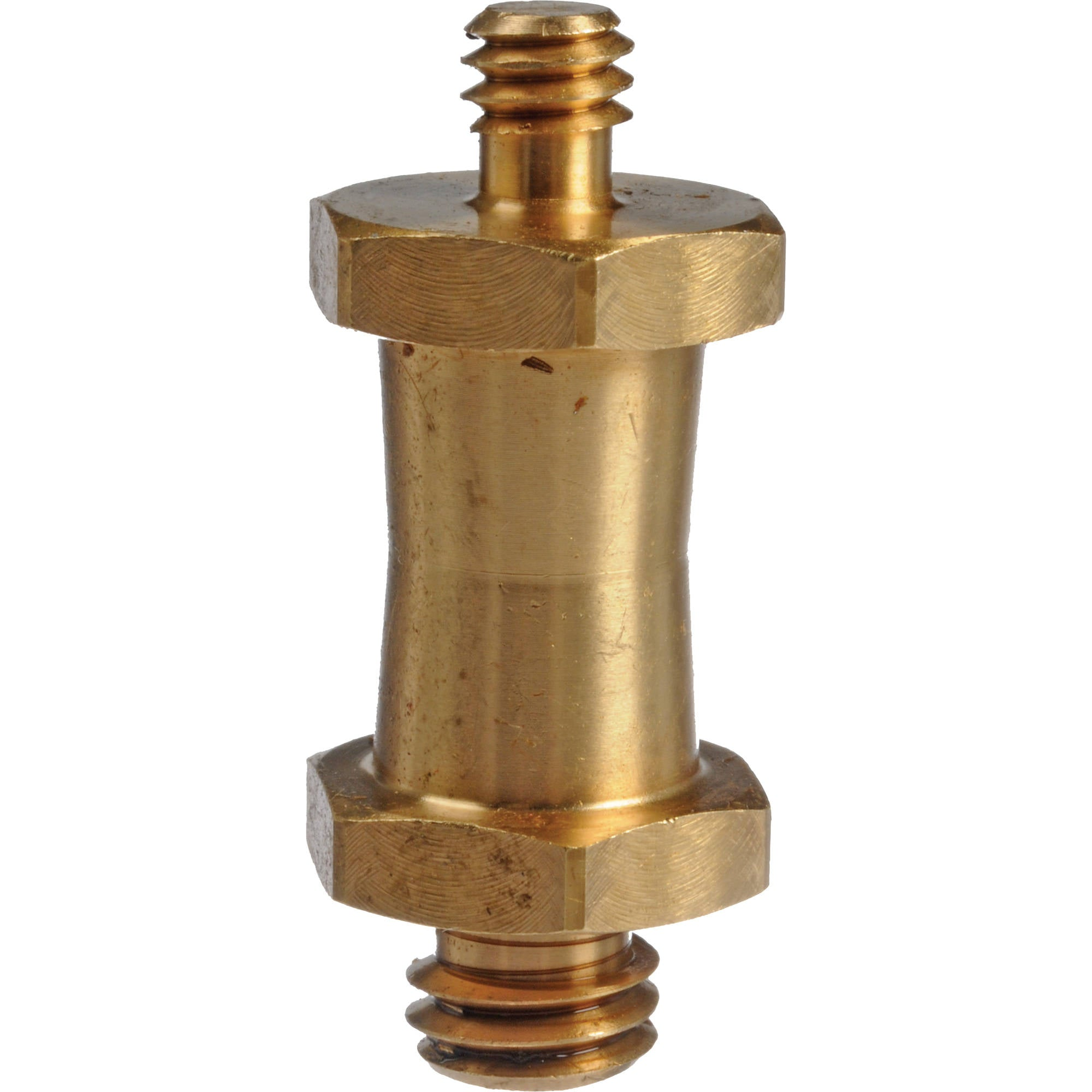 "Manfrotto 037 Reversible Short Stud, with 3/8"" & 1/4""-20 Threads (Brass)"