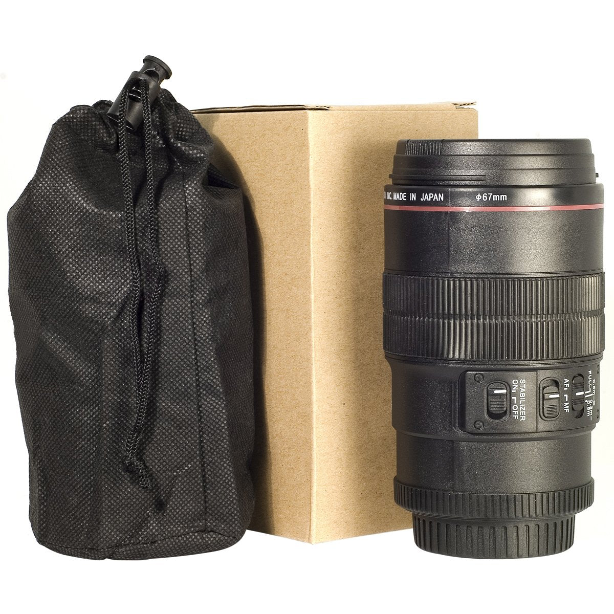 OEM EF Macro 100 mm Thermos Travel Camera Lens Cup Mug and Bag, 350 ml
