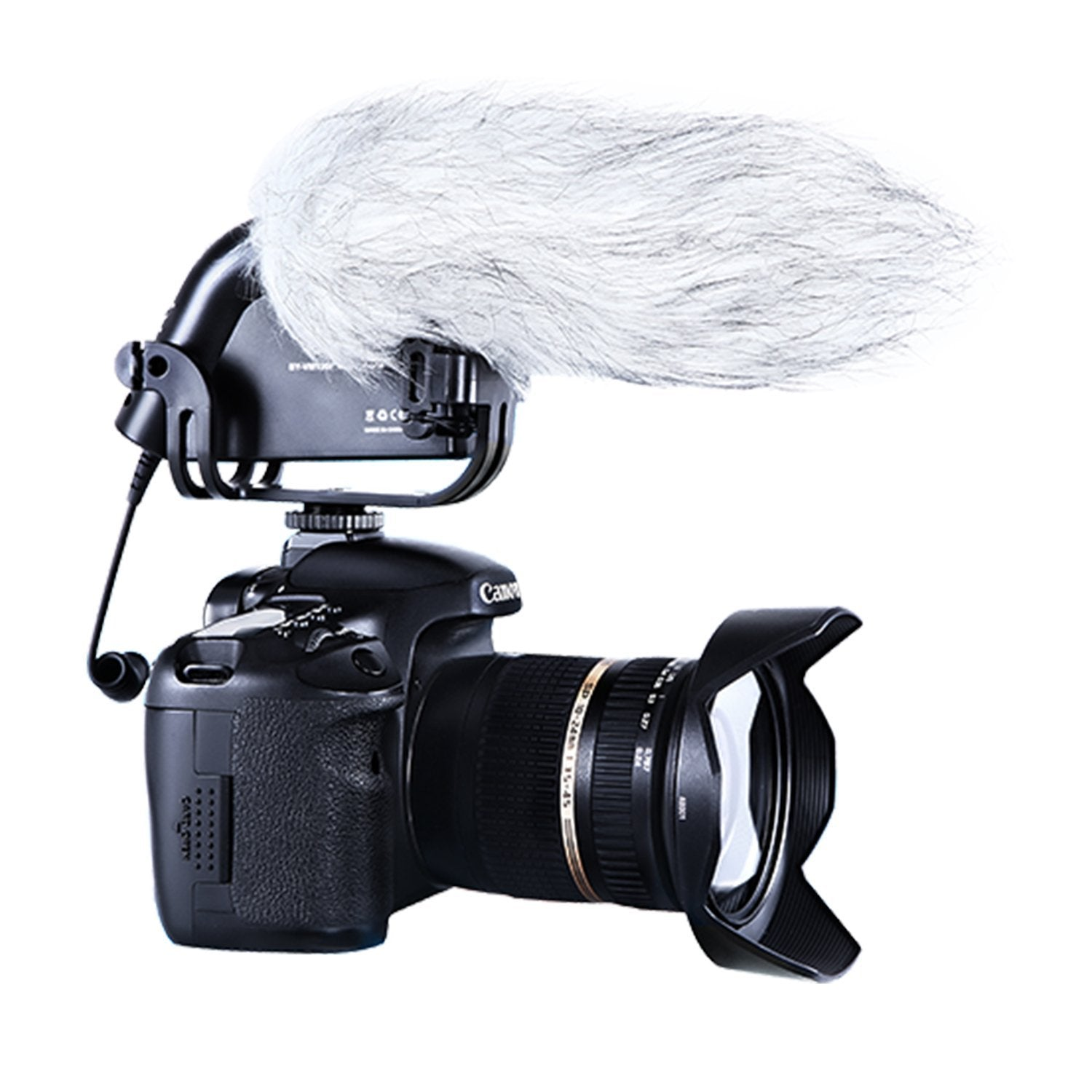 BOYA BY-VM190P Shotgun Video Condenser Microphone for DSLR Video Cameras DV with Suspension Mount 2-Step High Pass Filter and 3-Stage Audio Level Controls