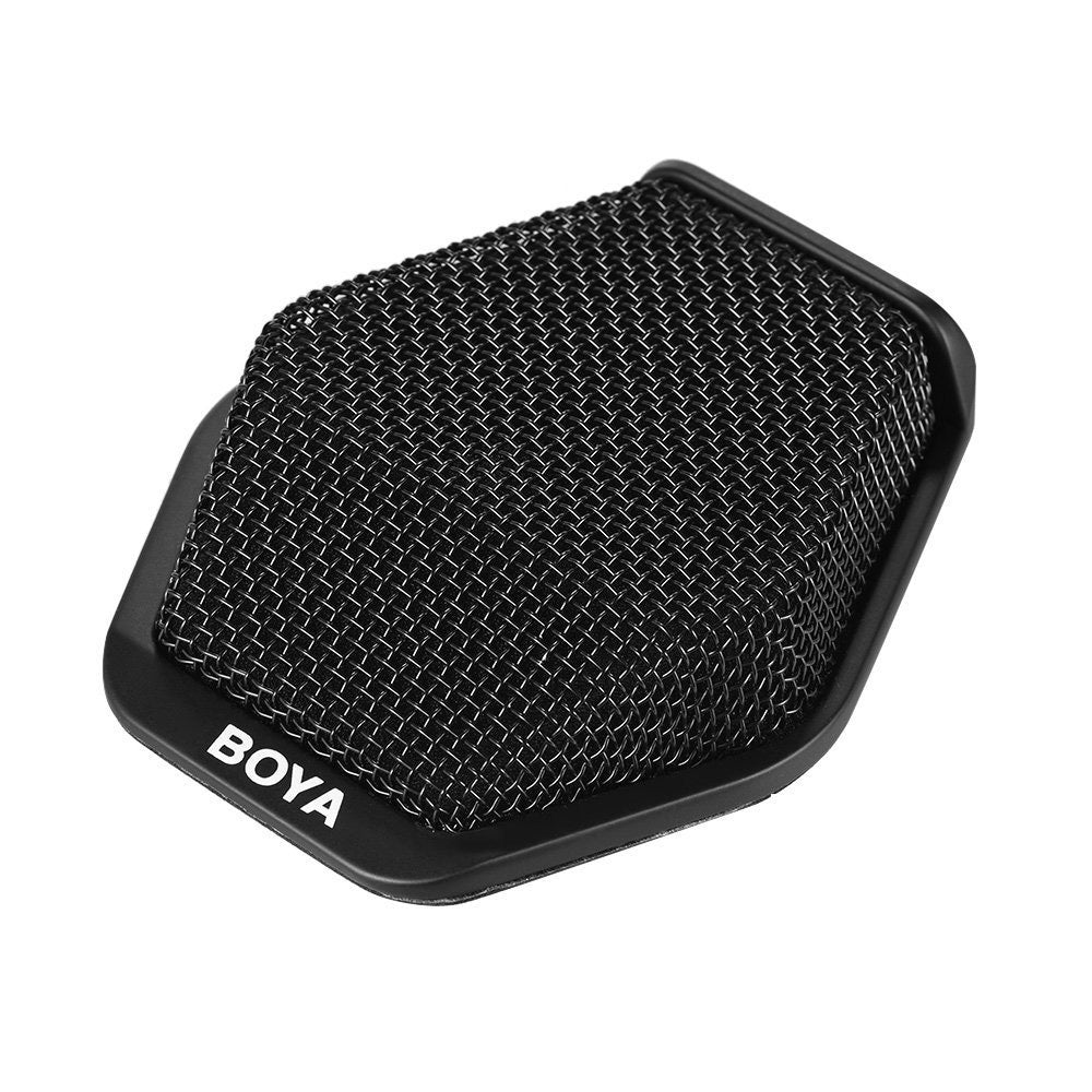 BOYA BY-MC2 Super-cardioid Condenser Conference Microphone with 3.5mm Audio Jack & 5V USB Interface 16ft Pickup Distance for Conference Room Seminars and Other Occasions