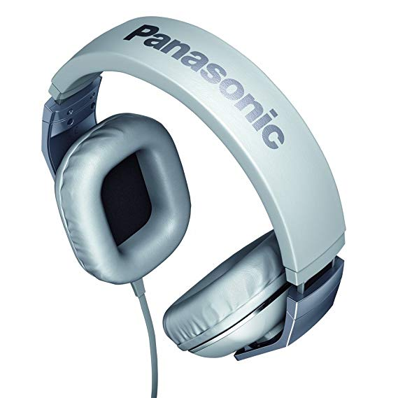 Panasonic RPHT480 CPPW Stereo Headphones Headset With Remote Mic  White