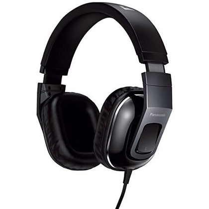 Panasonic HT480 Stereo Headphones Headset With Remote Mic  Black