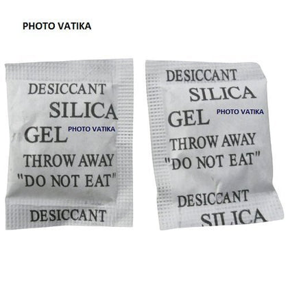 Photo Vatika Silica Gel 100 Packs 5 gm Desiccants Packets for moisture absorb in Cameras,Lenses, Mobile Phones, Electronics