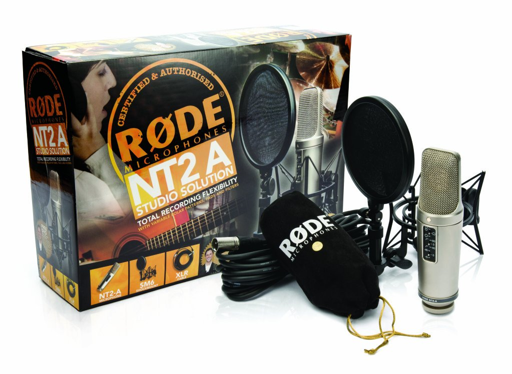 Rode NT2A Large Diaphragm 3 Polar Pattern Studio Condenser Microphone