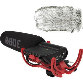 Rode Videomic Shotgun Microphone with Rycote Lyre Mount + Dead Cat