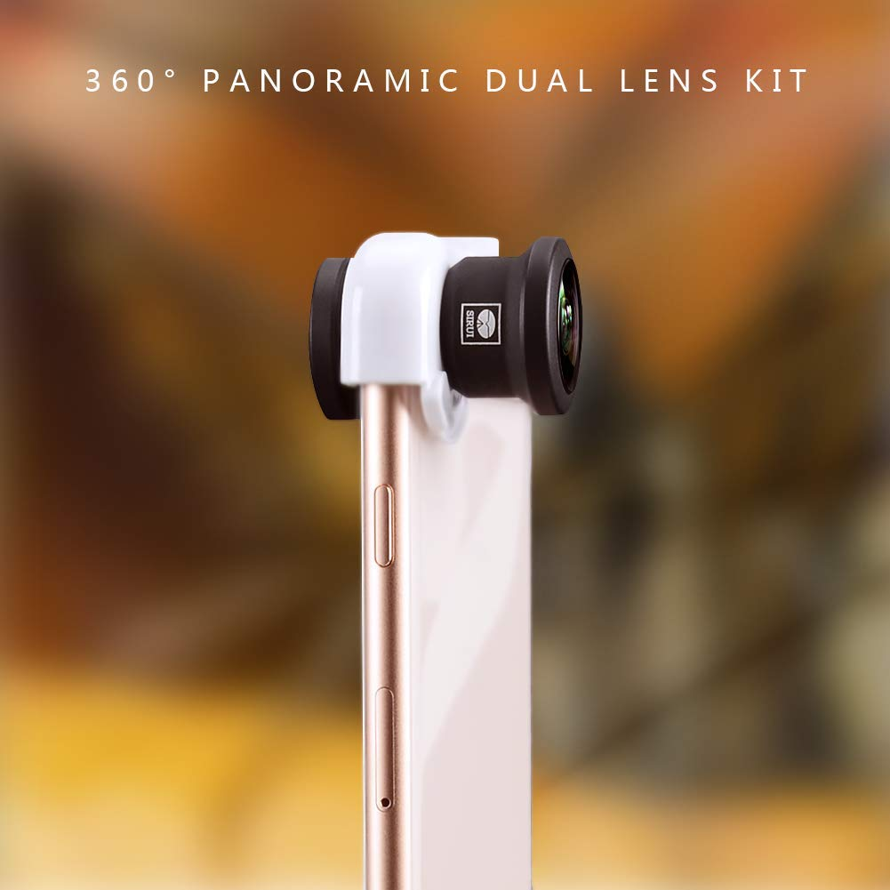 Sirui MP-X360L2 360 Degree Panoramic Dual Lens Kit for iPhone X (Black)