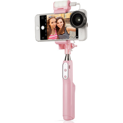 Sirui Smart Selfie Stick with Built-In LED Light (Pink)