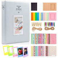 ZENKO 2x3 Inch Photo Paper Film Album Set for Instax Mini Camera, Polaroid Snap, Z2300, SocialMatic Instant Cameras & Zip Instant Printer (128 Pockets, Smokey White)
