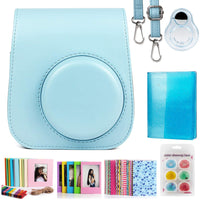 ZENKO Compatible Mini 11 Camera Case Bundle with Album, Filters Other Accessories for Instax Mini 11 9 8 8+ (Blue, 7 Items)