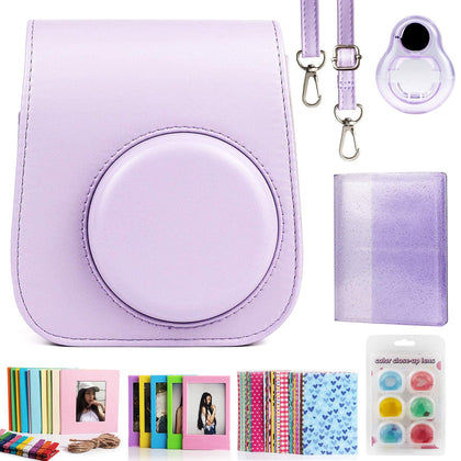 ZENKO Compatible Mini 11 Camera Case Bundle with Album,Filters Other Accessories for Instax Mini 11 9 8 8+ (Purple, 7 Items)