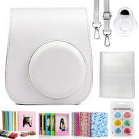 ZENKO Compatible Mini 11 Camera Case Bundle with Album, Filters Other Accessories for Instax Mini 11 9 8 8+ (White, 7 Items)