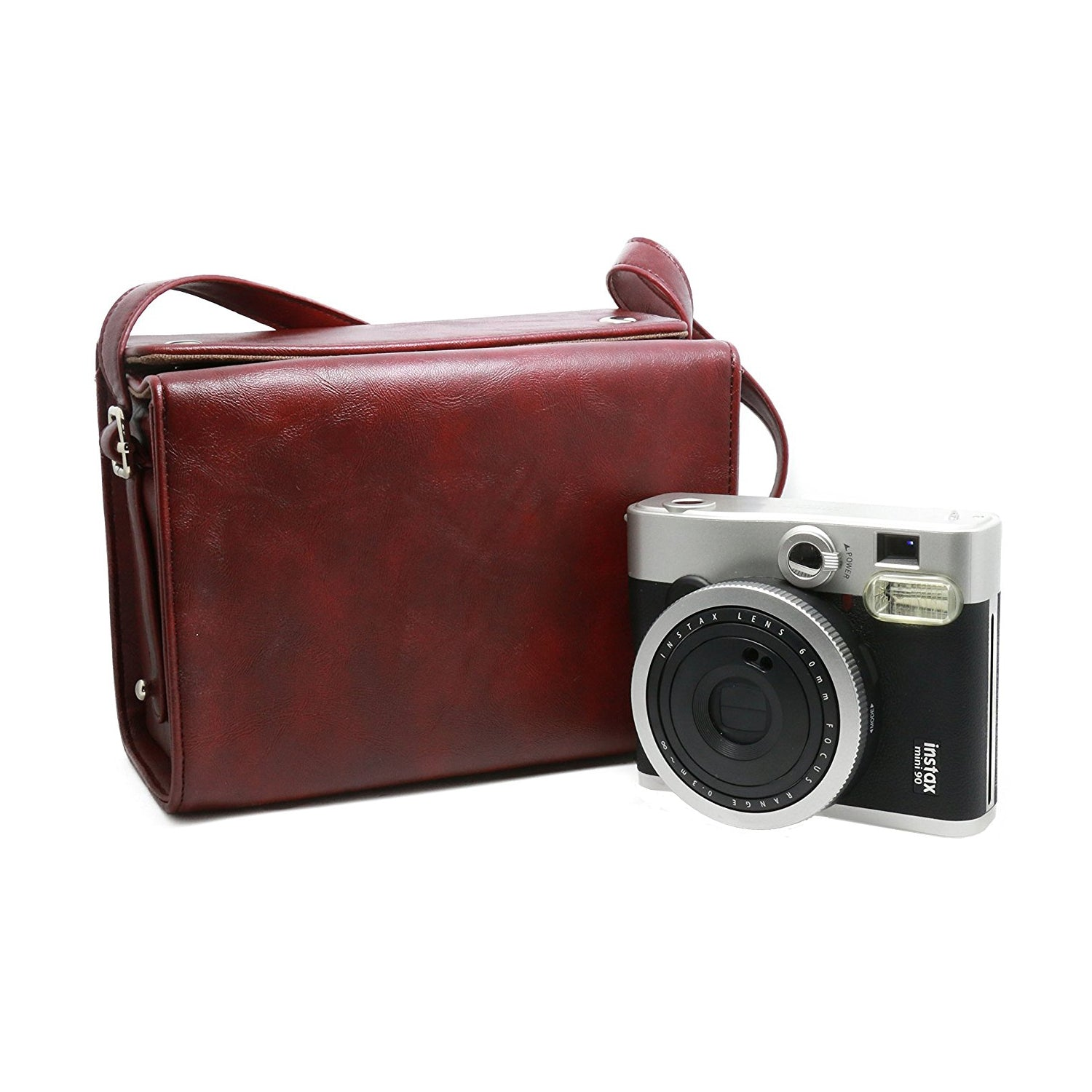 ZENKO MINI 7 8 25 50 90 INSTAX CAMERA BAG (RED WINE)