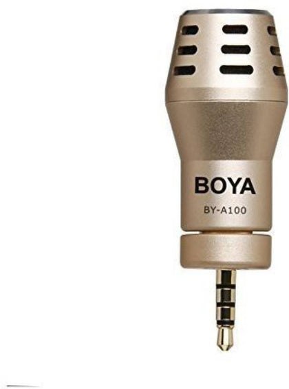BOYA BY-A100 Omni Directional Condenser Microphone for IOS Android Smartphones ( Gold)