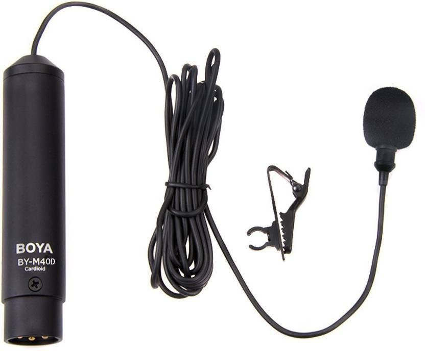 BOYA BY-M40D Omni-directional Lavalier Microphone Mic for Sony Panasonic Camcorder Audio Recorders