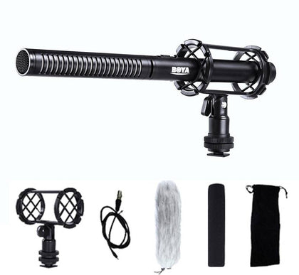 BOYA BY PVM1000 3 Pin XLR Output Pro Broadcast-Quality Interview Condenser Shotgun Microphone