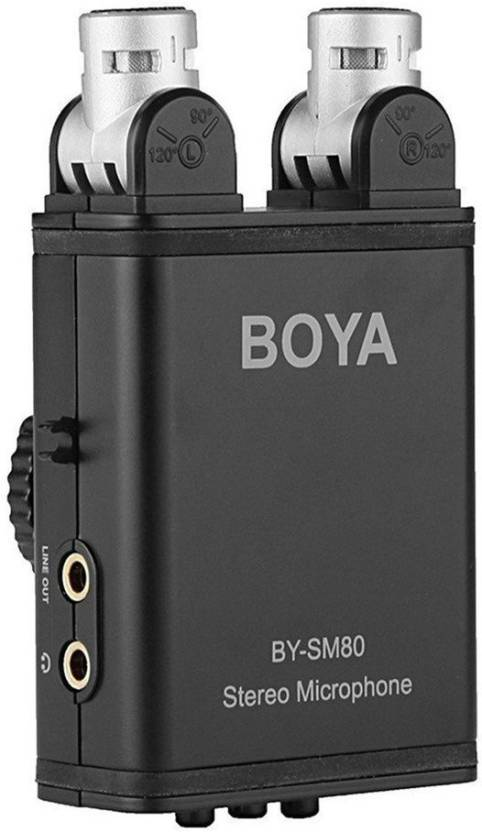 Boya By-SM80 Stereo Video Microphone Condenser with Windshield for Canon Nikon DSLR Camera Camcorder