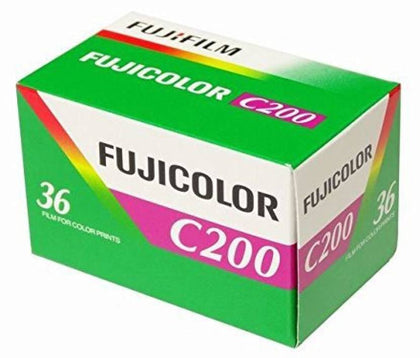 FUJIFILM Fujicolor 200 Color Negative Film (35mm Roll Film, 36 Exposures)