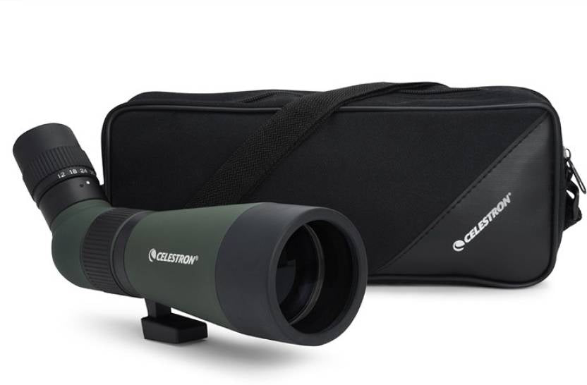 Celestron LandScout 12-36x60 Spotting Scope with Tripod (Angled Viewing) Army Green