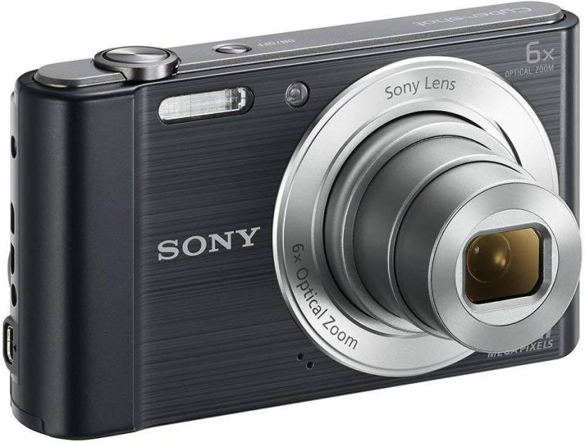 Sony Cybershoot DSC-W810/B 20.1MP Digital Camera Memory card 16GB (Black) + Bag (20.1 MP, 6 Optical Zoom, 48 X Digital Zoom, Black)