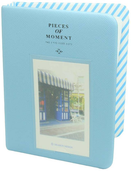 CAIUL 64 Pockets Mini Photo Album for Fujifilm Instax Mini 7s 8 8+ 9 25 26 50s 70 90 Film, Polaroid PIC-300 Z2300 Film ( Blue )