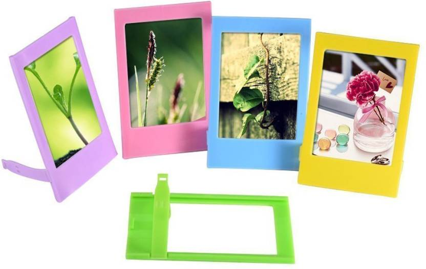 Caiul Desk Photo Frame for Fujifilm Instax mini 8/9/70/7s/90/25/50s Film (Multicolour) , 10 Pieces