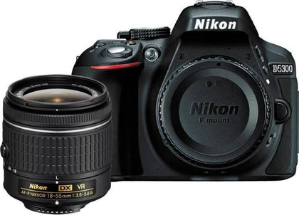 Nikon D5300 DSLR Camera with AF-P 18-55mm Lens Kit (Black) ( with 16 GB SD Card + Camera Bag)