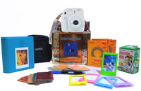 Fujifilm Instax Mini 9 Smokey White Festive Pack Instant Camera (White)