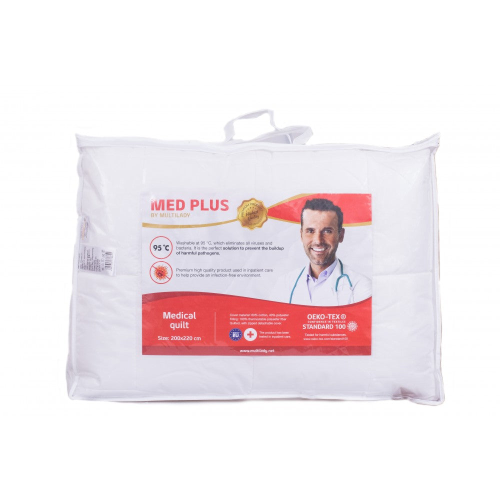 Med Plus medical quilt, washable on 95°C, 200x220 cm