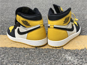 Air Jordan 1 Mid Yellow Toe Black