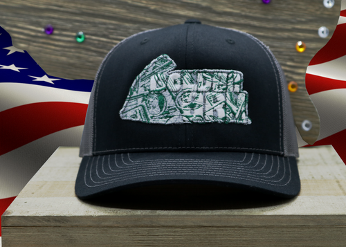 Black Hat/ Grey Mesh and Cash Money logo Embroidered