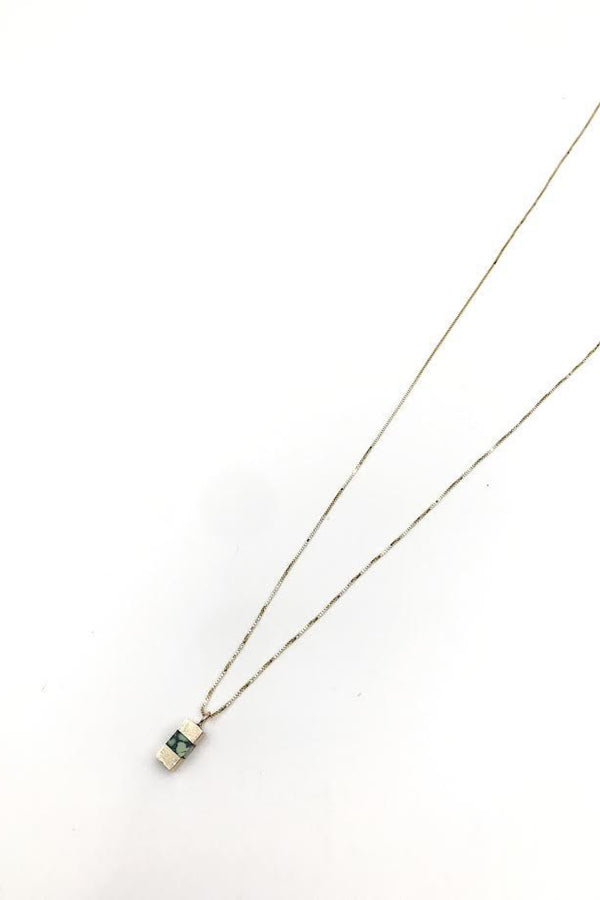 14k Gold Keel Necklace
