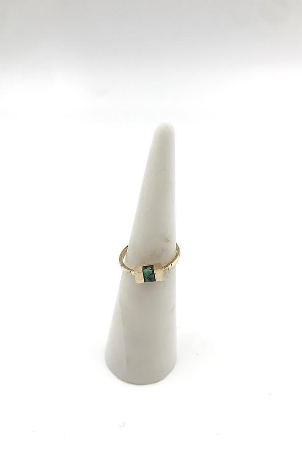 14k Gold Keel Ring